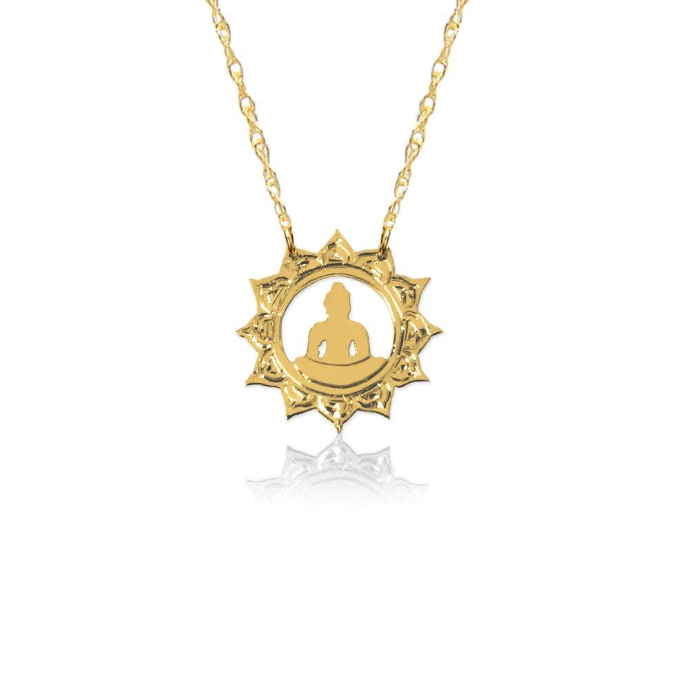 Moon and Lola - Gold Halo Buddha Necklace
