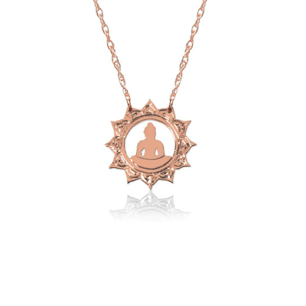 Moon and Lola - Rose Gold Halo Buddha Necklace