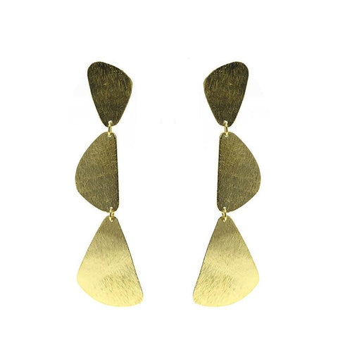 Moon and Lola Indio Earrings - studs with a cascade of 3 rounded triangles
