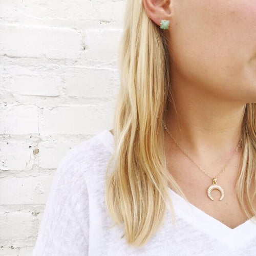 I found this at #moonandlola - Ios Earrings with Delphi Necklace