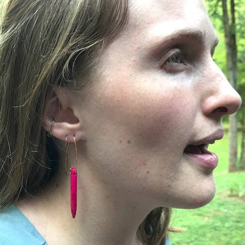 Moon and Lola - Kara Earrings in Hot Pink