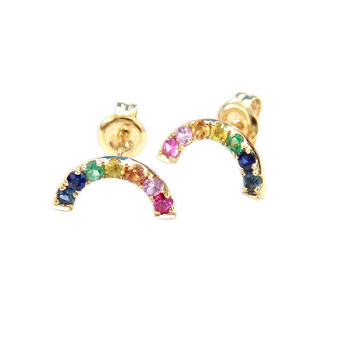 Moon and Lola - Komo Rainbow Gemstone Post Earrings