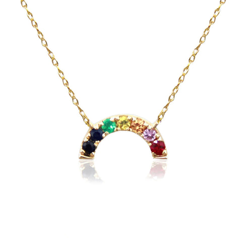 Moon and Lola - Komo Rainbow Gemstone Necklace