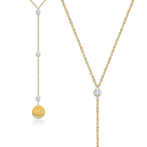 Moon and Lola - Gold Laredo Lariat Necklace
