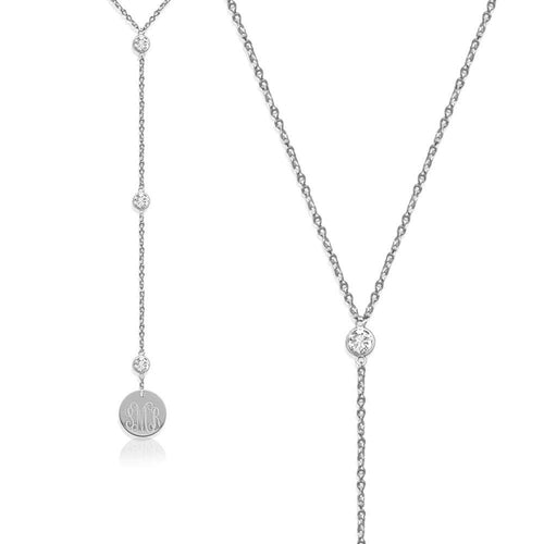 Moon and Lola - Silver Laredo Lariat Necklace