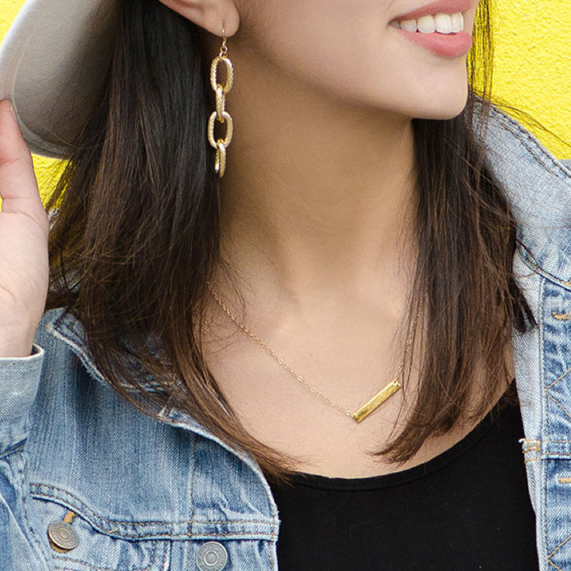 Moon and Lola - Lulee Gold Chain Drop Earrings
