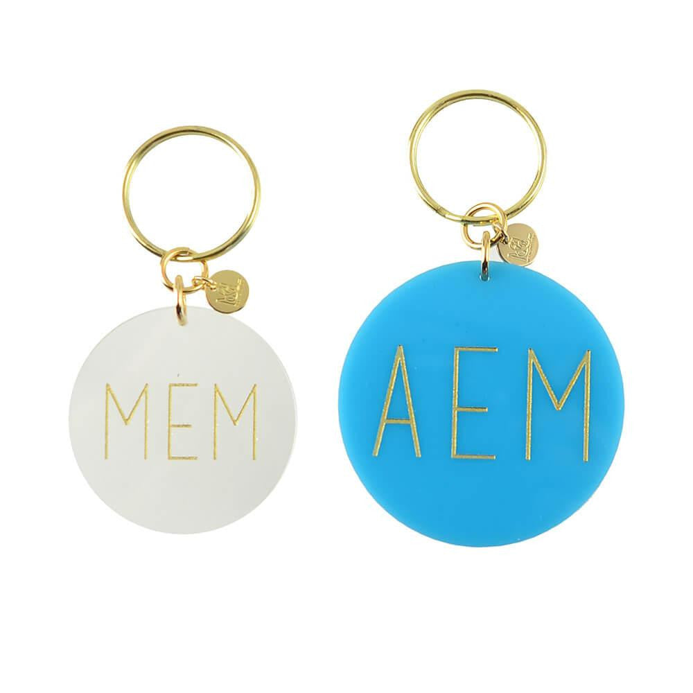 I found this at #moonandlola! - Modern Block Keychain