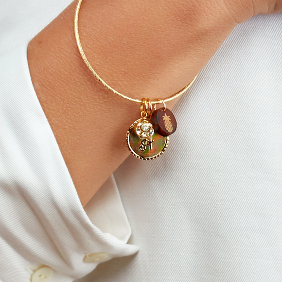 Moon and Lola - Laura Bangle Charm Bracelet