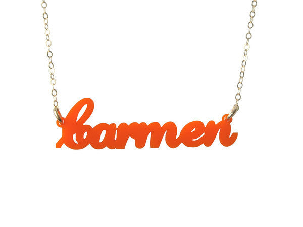 I found this at #moonandlola! - Acrylic Nameplate Necklaces C-D
