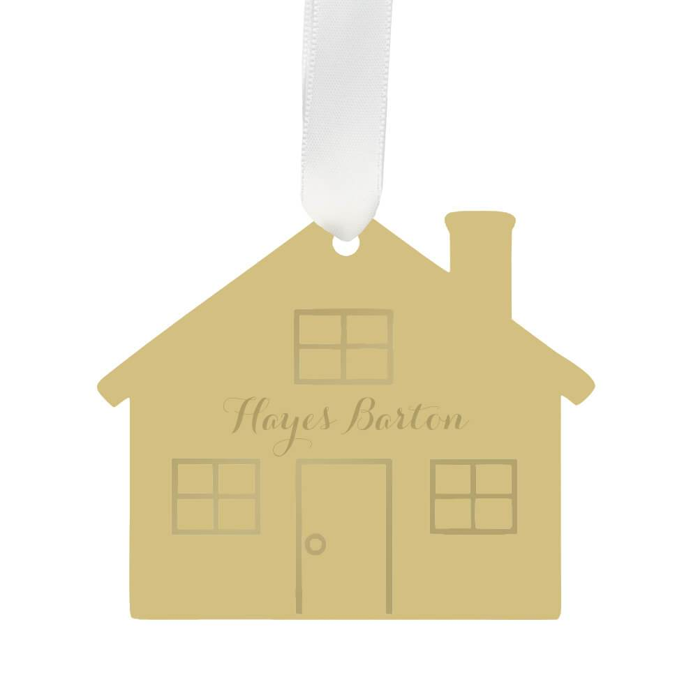 Moon and Lola - Personalized House Ornament