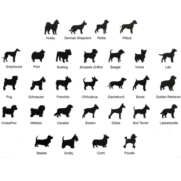 Moon and Lola - Petit Bijou Dog Breed Shilhouettes Chart