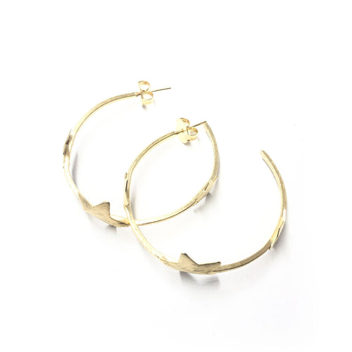 Moon and Lola - Polaris Hoop Earrings with stars