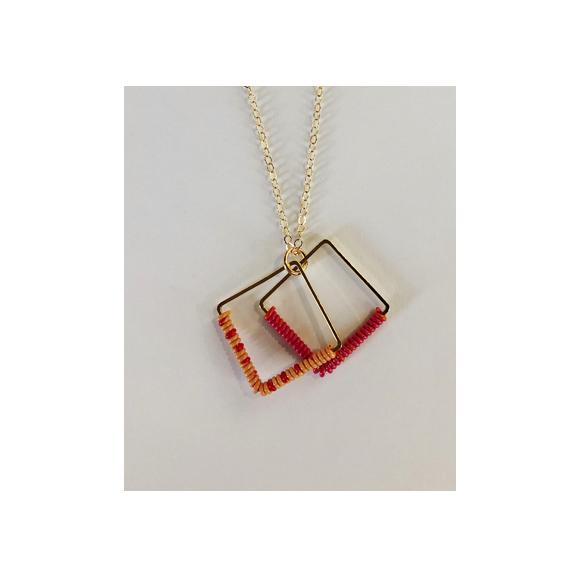 Moon and Lola - Ponio Necklace In Orange and Red