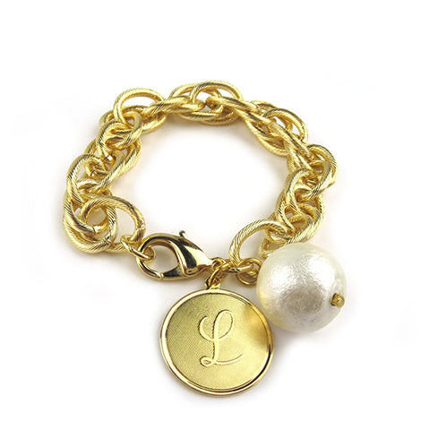 ML xx EM Bamboo Charm Bangle - Interlocking