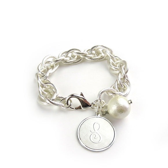 Moon and Lola Charm Preston Bracelet Silver