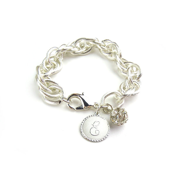 Moon and Lola - Preston Charm Bracelet Silver Cotton Pearl