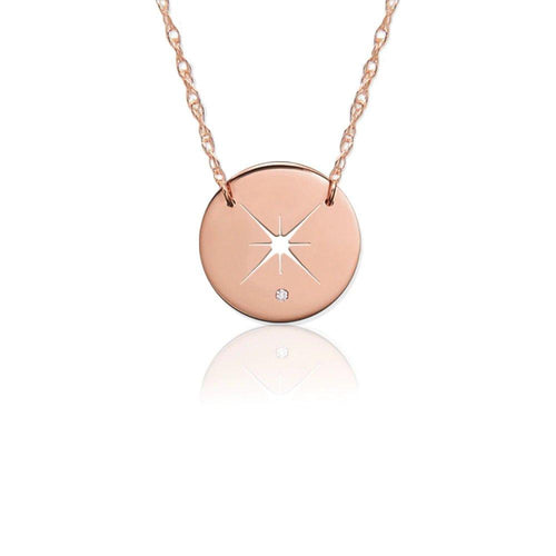 Moon and Lola - Quasar Diamond Necklace in Rose Gold