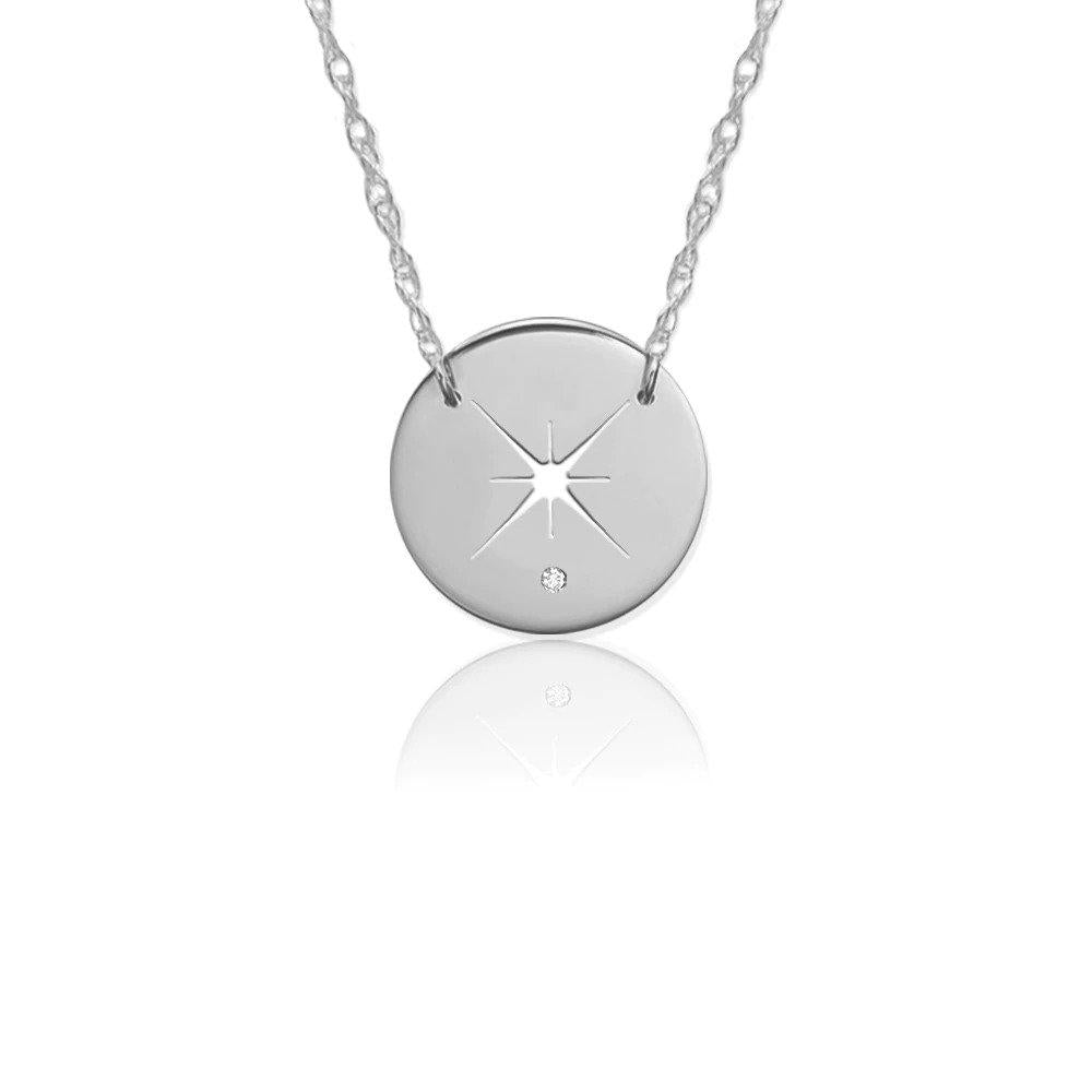Moon and Lola - Quasar Diamond Necklace in Sterling Silver