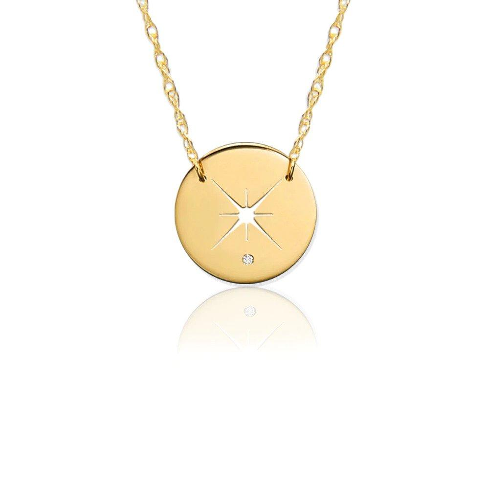 Moon and Lola - Quasar Diamond Necklace in Yellow Gold