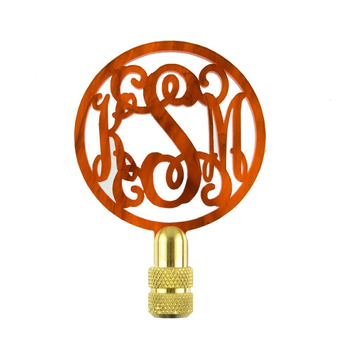 Block Monogram Finial