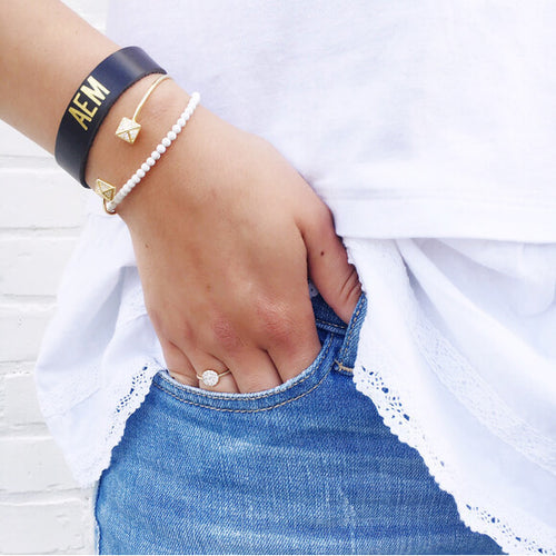 I found this at #moonandlola! - Rhea Bracelet, Faro Cuff and Sayre Leather Bracelet