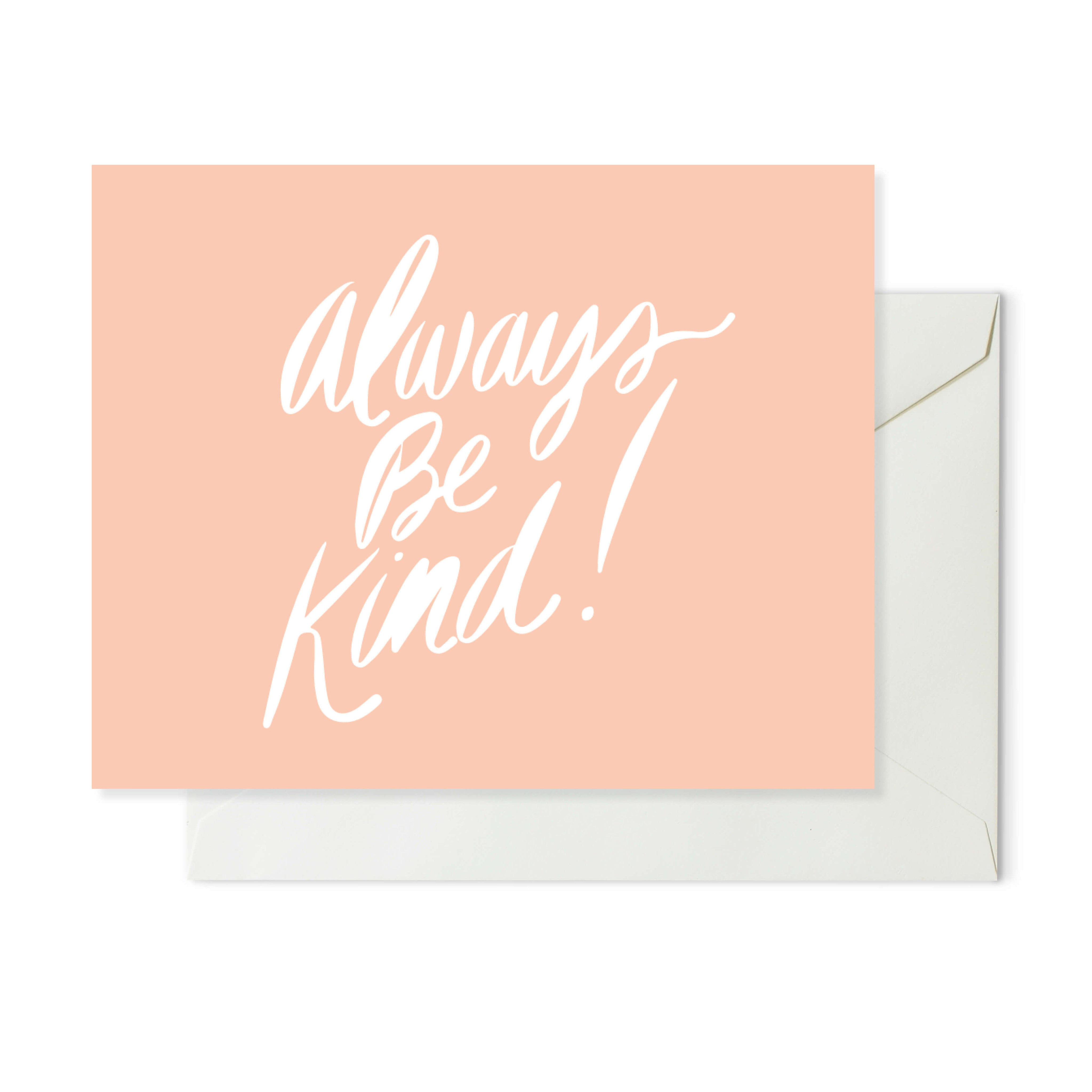 Moon and Lola xx Thimblepress - Always Be Kind Note Card