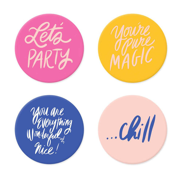 Moon and Lola xx Thimblepress - Acrylic Drink Coasters set of 4