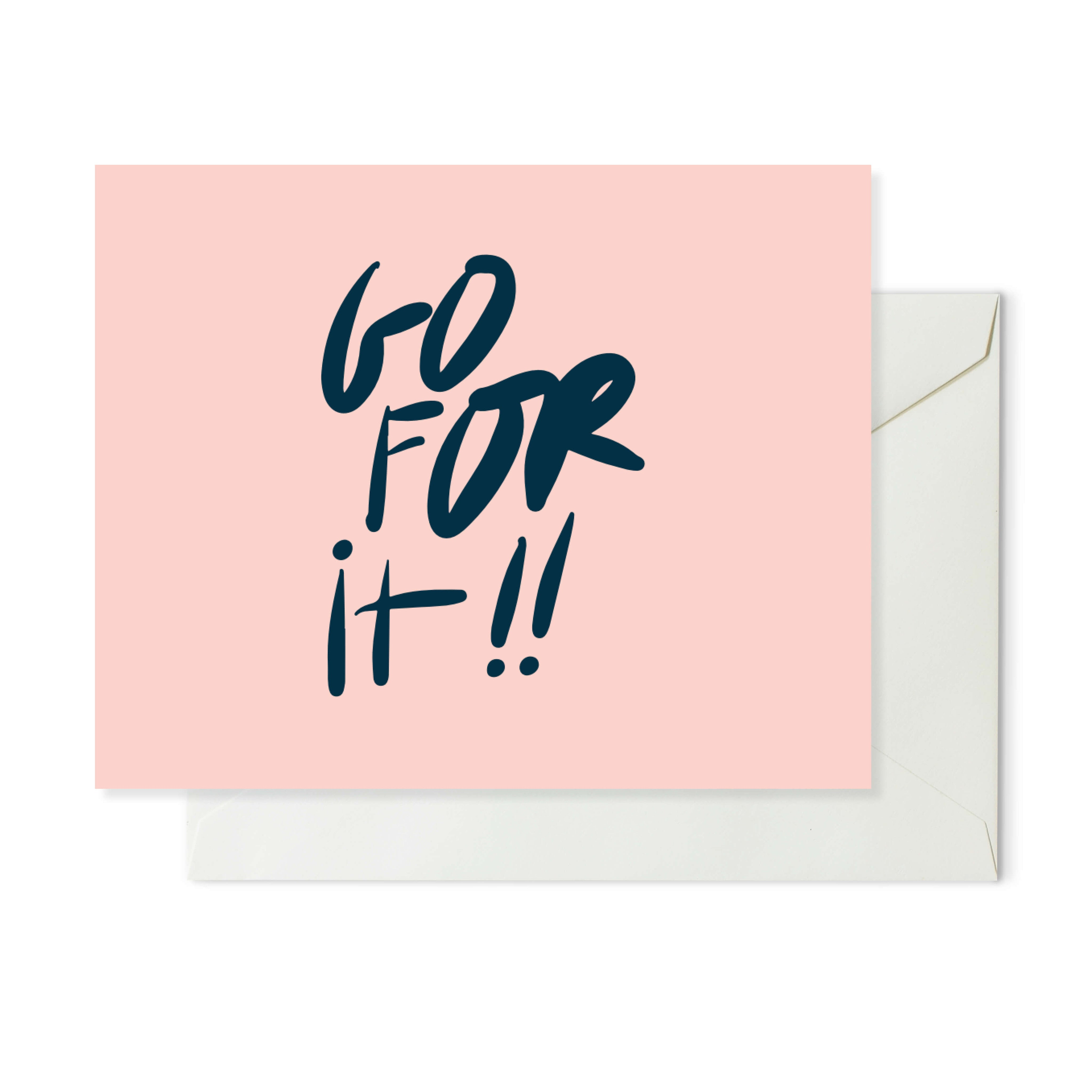 Moon and Lola xx Thimblepress - Go For It Note Card w/envelope
