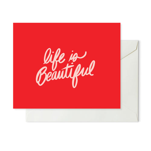 Moon and Lola xx Thimblepress - Life Is Beautiful Note Card