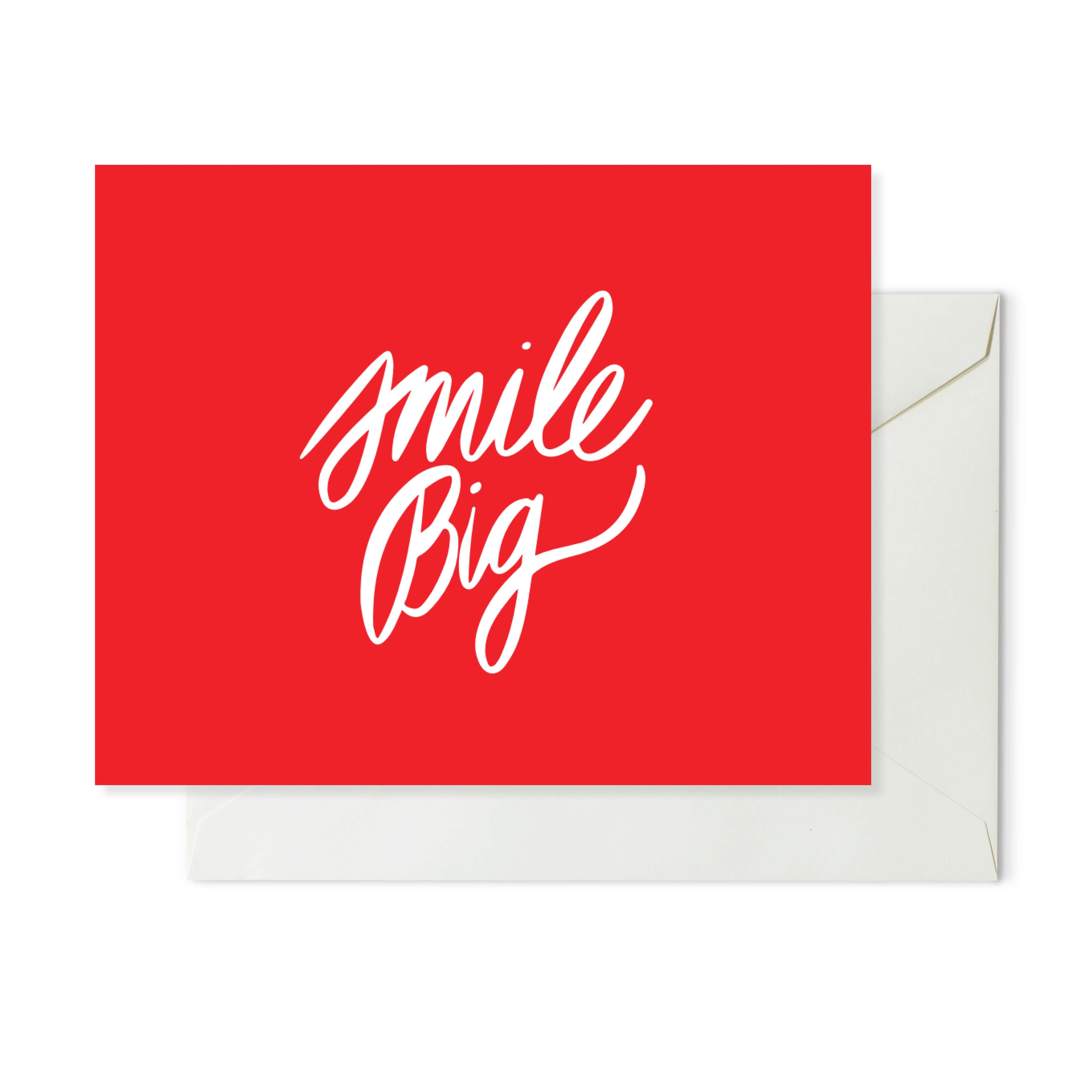 Moon and Lola xx Thimblepress - Smile Big Note Card w/envelope