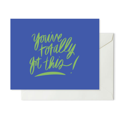 Moon and Lola xx Thimblepress - You've Totally Got This Note Card w/envelope
