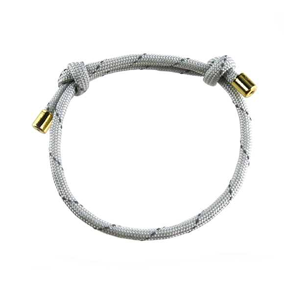 I found this at #moonandlola! - Topanga Bracelet reflective gray cord