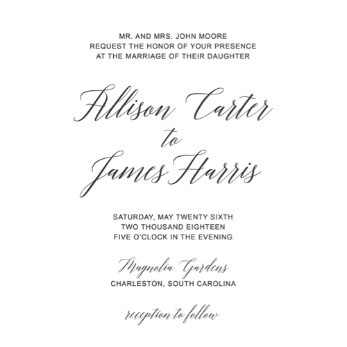 Moon and Lola - Classic Acrylic Wedding Invitations