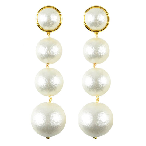 Europa Rhinestone Ball Earrings