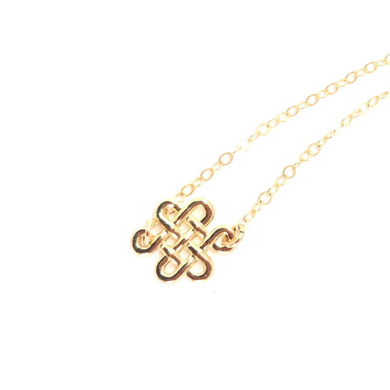 Moon and Lola - Waterford Necklace Celtic Love Knot on delicate gold chain