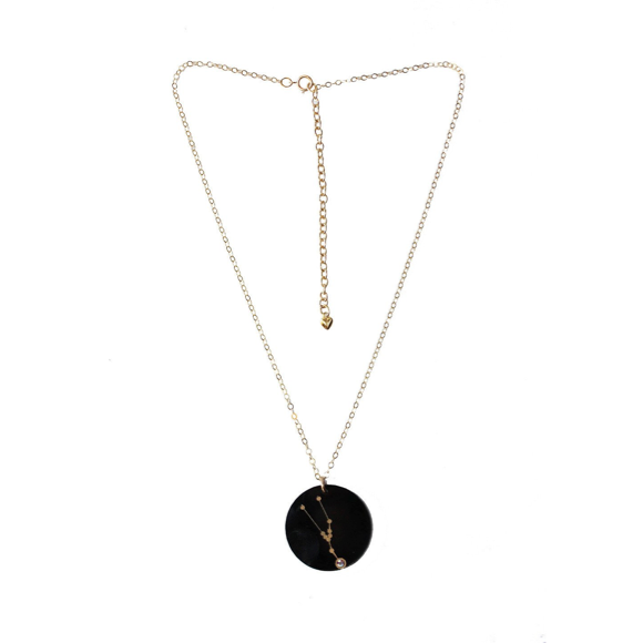 I found this at #moonandlola! - Acrylic Zodiac Constellation Charm on Apex Chain Ebony
