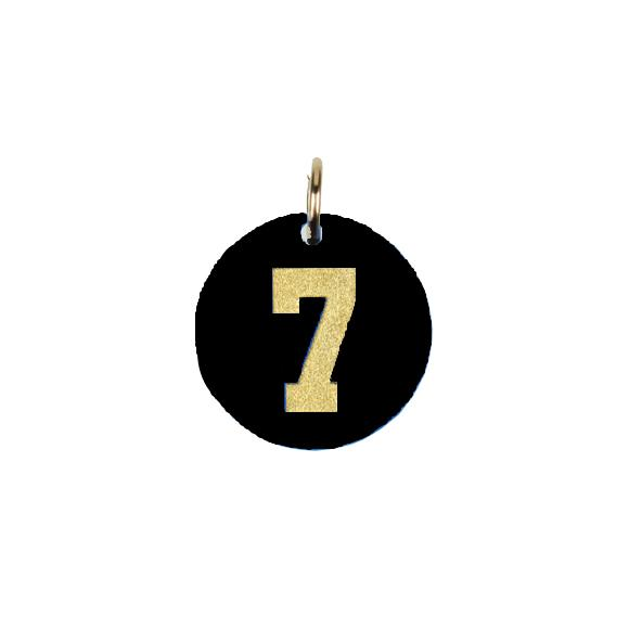 I found this at #moonandlola! - Acrylic Varsity Number Charm