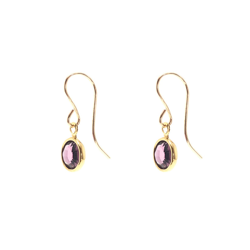 Moon and Lola - Amalfi Dangles Swarovski birthstone charms on French wire hook earrings
