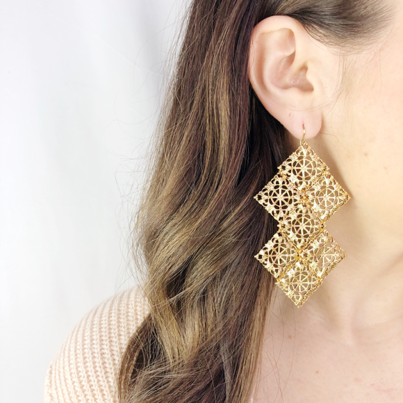 Moon and Lola - Belfast Filigree Earrings