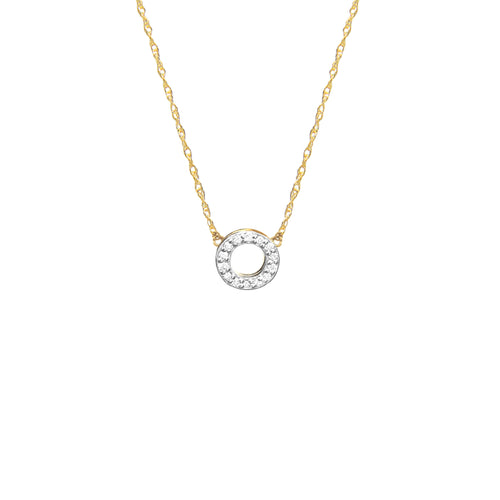 Moon and Lola - Open Circle Diamond Necklace