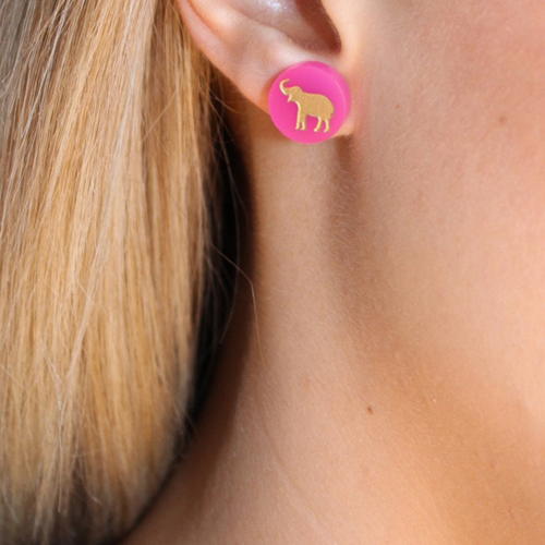 I found this at #moonandlola! - Eden Stud Earrings on model