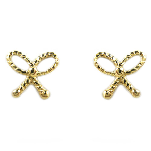 Moon and Lola - Fina 14K Gold Bow Studs