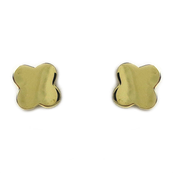 Moon and Lola - Fina 14K Gold Clover Studs