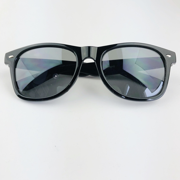 Moon and Lola - Monogram Wayfarer-Style Ebony Sunglasses