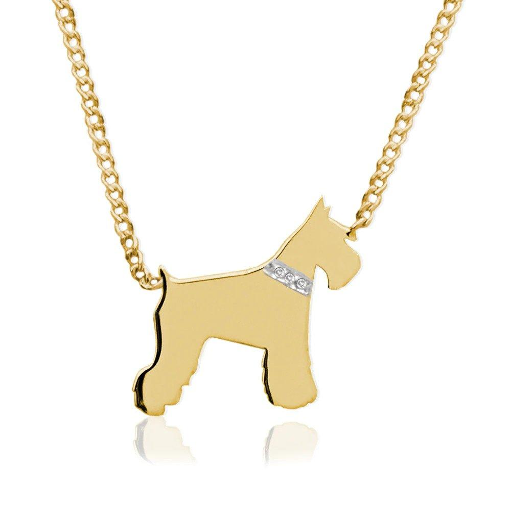 Moon and Lola - Petit Bijou Necklace With Diamonds gold schnauzer