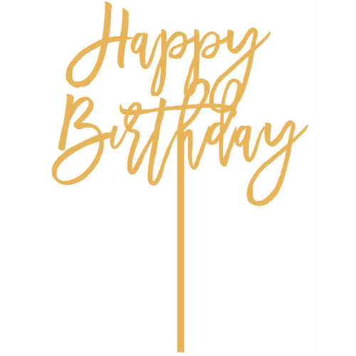 I found this at #moonandlola! - Happy Birthday Cake Topper in Antique Gold