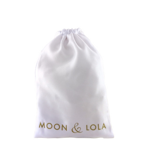 Moon and Lola - Large White Drawstring Gift Pouch