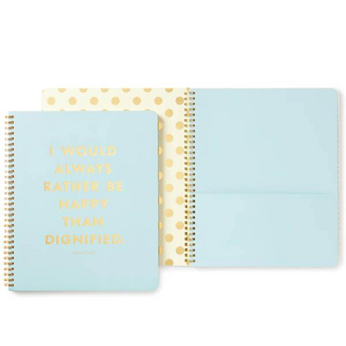 Moon and Lola - Kate Spade Rather Be Happy Spiral Notebook