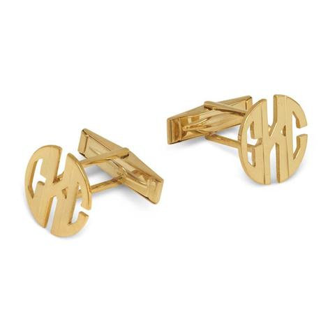 I found this at #moonandlola - Metal Monogram Cuff Links