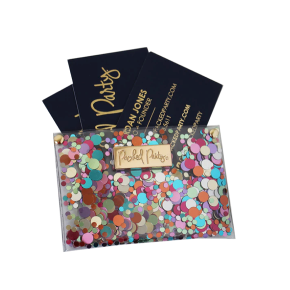 Moon and Lola - Packed Party Confetti Card Holder